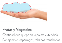 porcion frutas y verduras